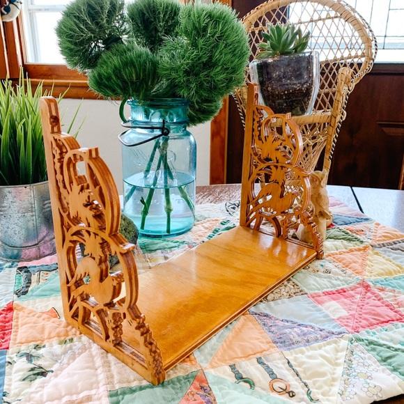 Handmade Mini Shelf with Decorative Sides